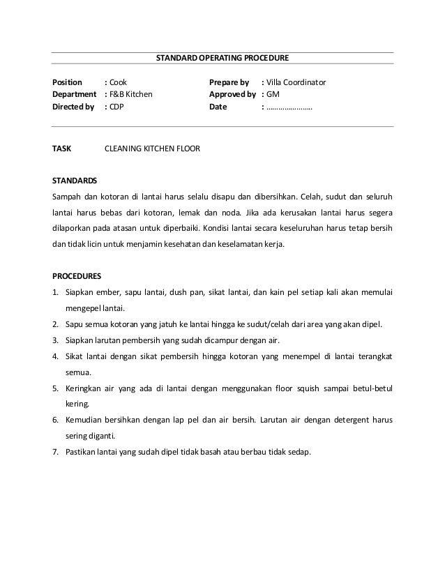 Standard operational procedure fbp