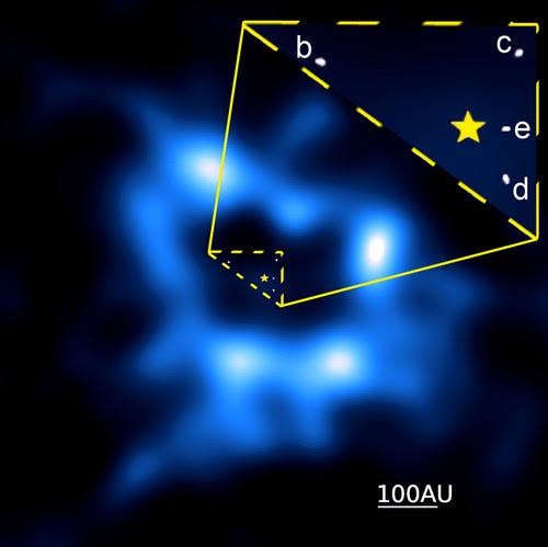Imagen obtenida por ALMA del anillo de cometas./Booth et al., ALMA (NRAO/ESO/NAOJ); A. Zurlo, et al.