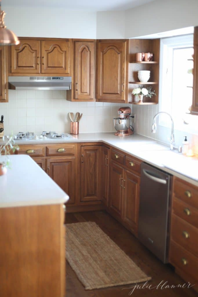 5 Ideas: Update Oak Cabinets WITHOUT a Drop of Paint