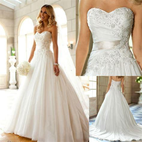 2016 Sexy White/Ivory Wedding Dress bridal Gown Custom