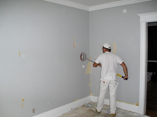 wallpaper sanding wall