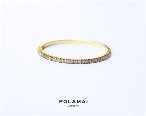 Diamond Eternity Ring 1.2mm 18k . Micro Pave Eternity Ring