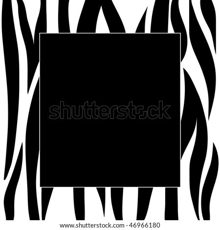 Animal Zebra Print Frame Stock Photo 46966180 : Shutterstock
