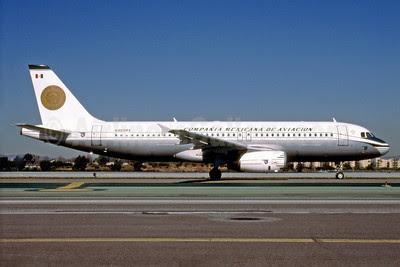 Compañía Mexicana de Aviación (Mexicana) Airbus A320-231 N405MX (msn 405) LAX (Roy Lock). Image: 912127.