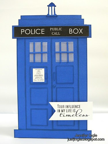 Tardis Father's Day Card