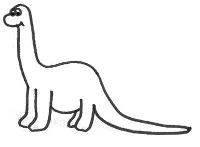 Malbild Lustiger Dinosaurier Dinobild Zum Ausmalen