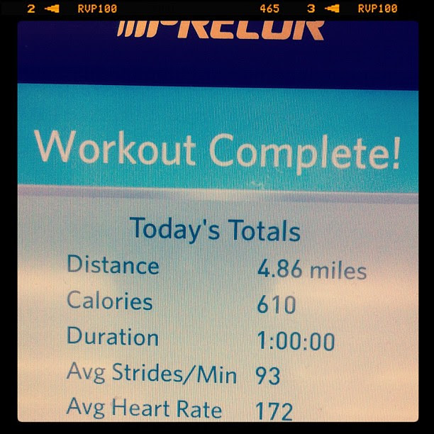 Another butt whooping on the elliptical.