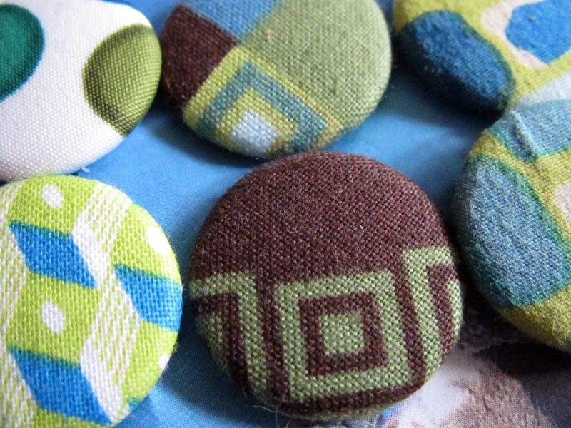 Mean Greens - Fashionable Pinback Buttons