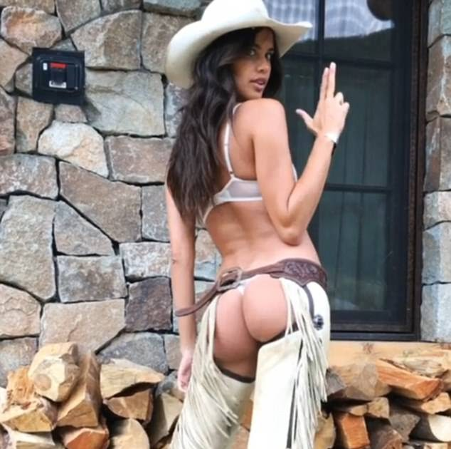 b223059dce794 KATCHING MY I: Victoria's Secret beauty Sara Sampaio exposes her pert  posterior in racy cowgirl outfit as she joins the Angels in Aspen