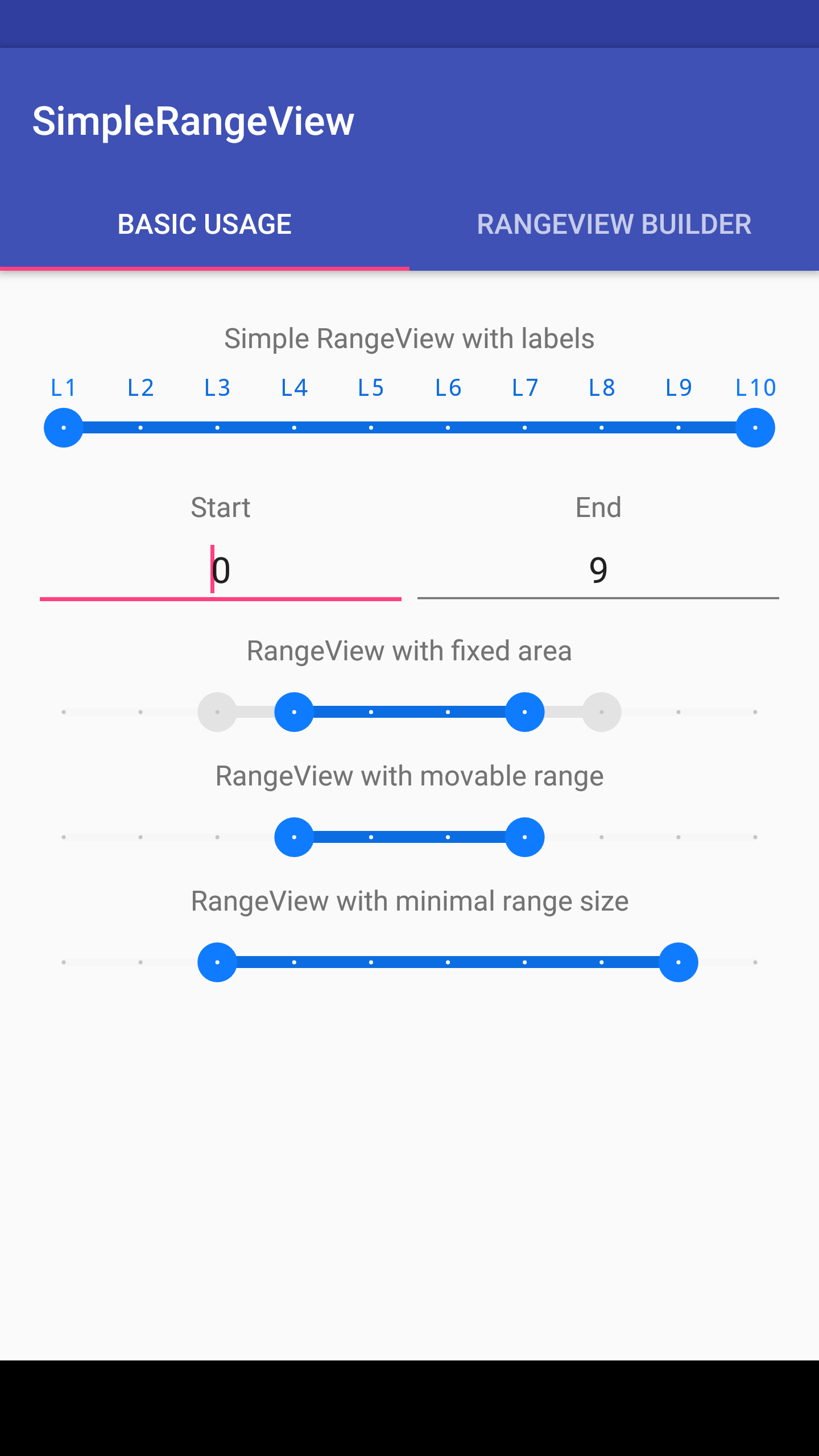 Android Arsenal: Simple Range View