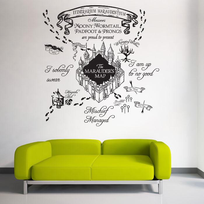 Karte Des Rumtreibers Harry Potter V1 Wandaufkleber Wandtattoo