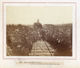 356 – The Last Rail is Laid – Scene at Promontory Point, May 10th, 1869 – Stanford