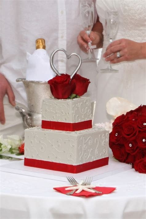 Square 2 tier wedding cake with beautiful scroll work