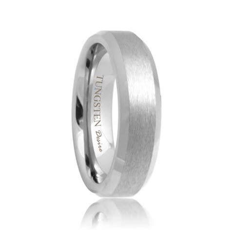 Phoenix   Brushed Beveled Durable Tungsten Wedding Ring