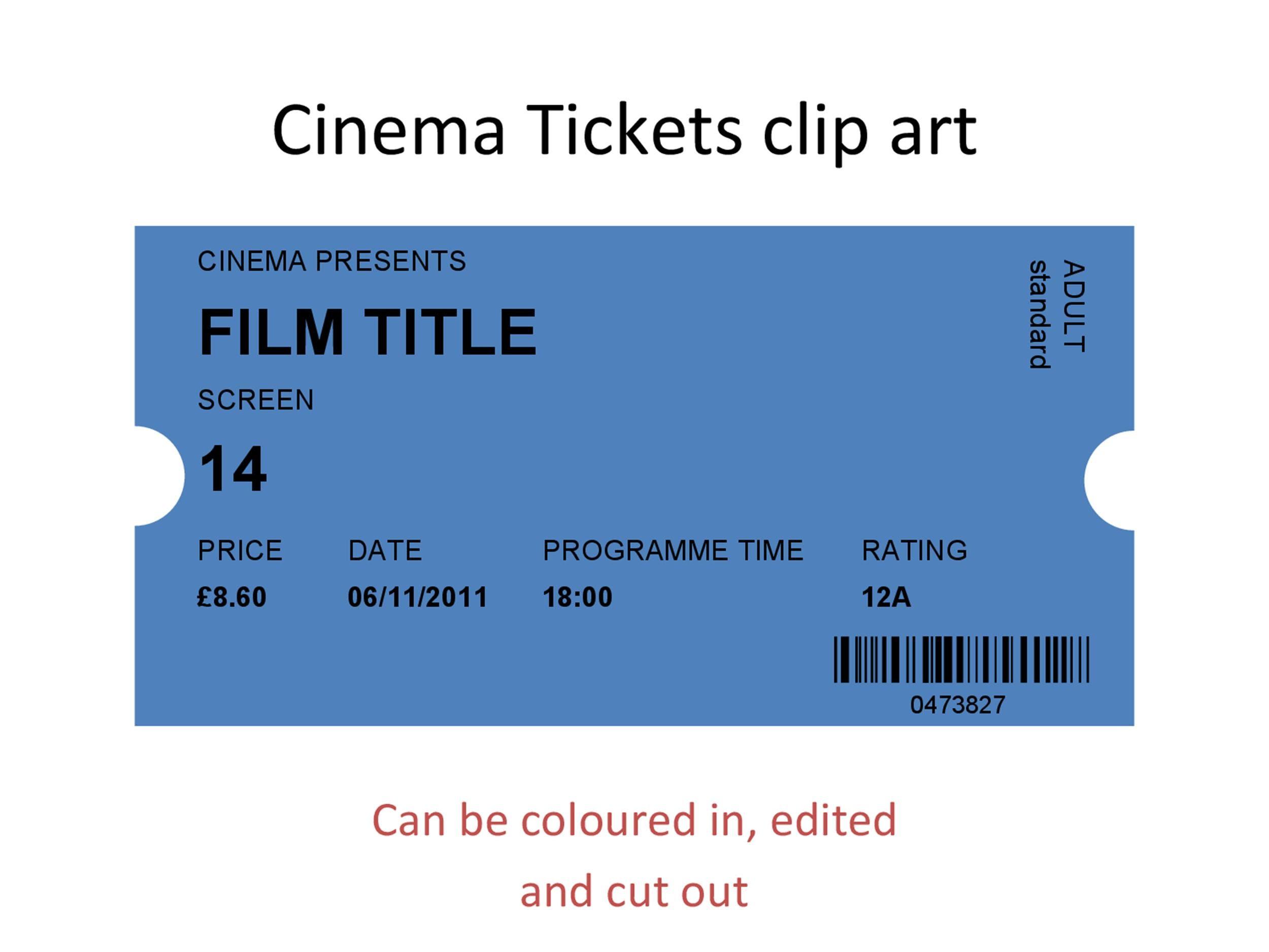 40+ Free Editable Raffle & Movie Ticket Templates