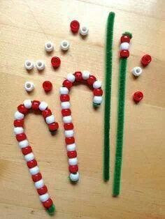 Xmas kids craft.would make great ornaments for the tree!! Also a great activity for exploring patterns and fine motor skills.