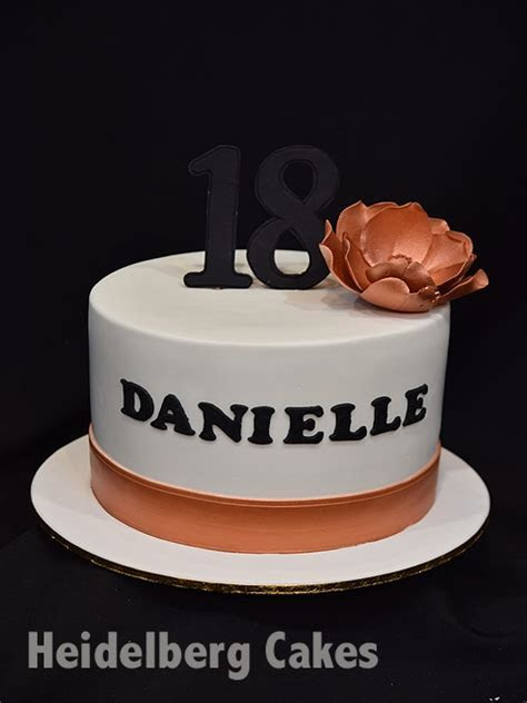 Girls Cake 18th and 21st 7  Rose Gold   Heidelberg Cakes
