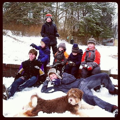 Fun with cousins... @taylomason and @follysurfer34 #cousins, #snow