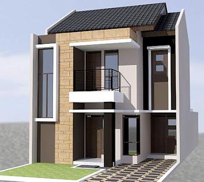 Gambar rumah minimalis modern 2 lantai memiliki konsep dimana ruangan
