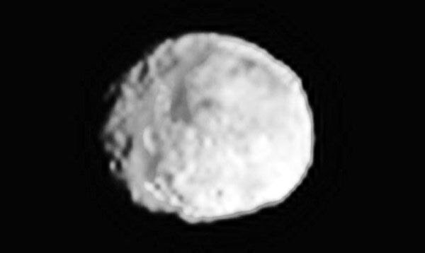 An image of asteroid Vesta that was taken by the Dawn spacecraft on June 24, 2011.