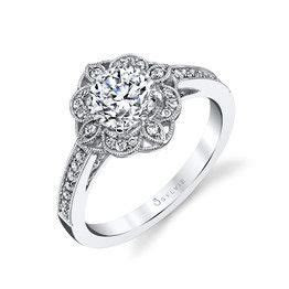 Sylvie Floral Engagement Ring   Andrews Jewelers, Buffalo