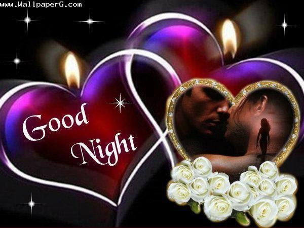 Download Romantic View Of Wishing Good Night Good Night Wallpaper