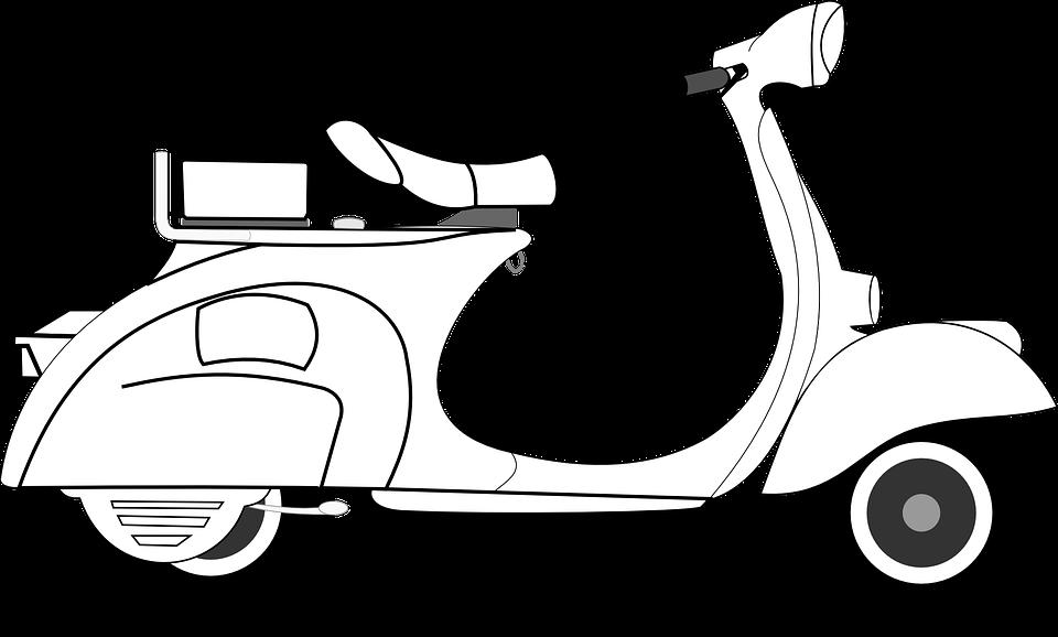Gambar Kartun Vespa - Gambar CDE