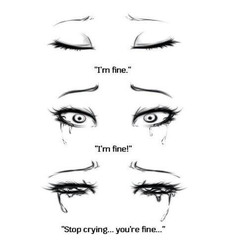 Love Girl Sad Eyes Quotes Enjoy Broken Fine Heart Crying Cry Sadness