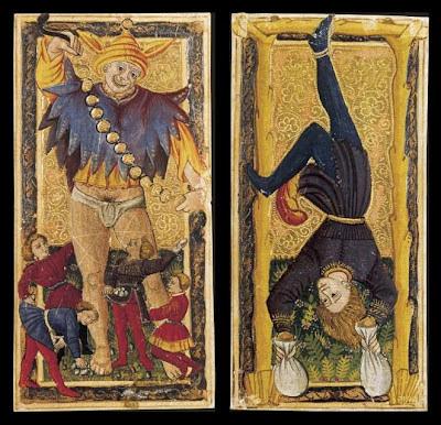 Tarot Cards - Le Fou and La Pendu