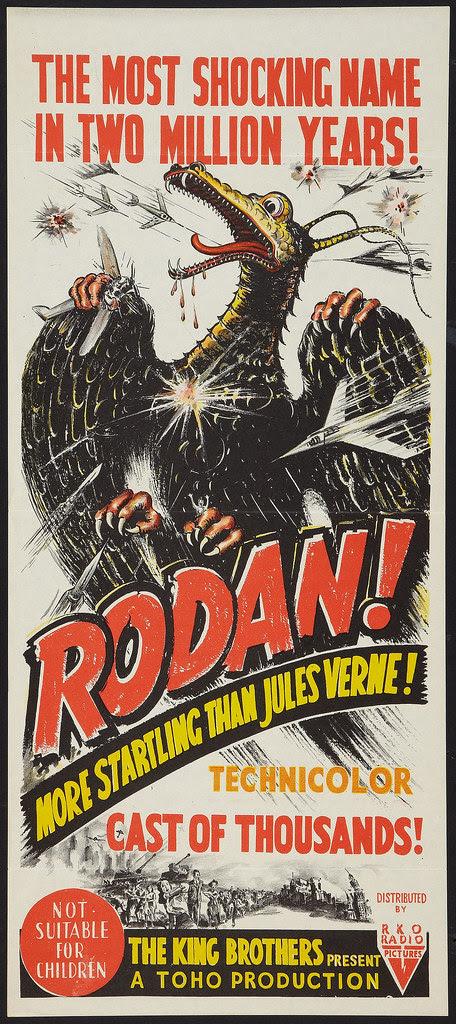 Rodan! The Flying Monster (RKO, 1957). Australian