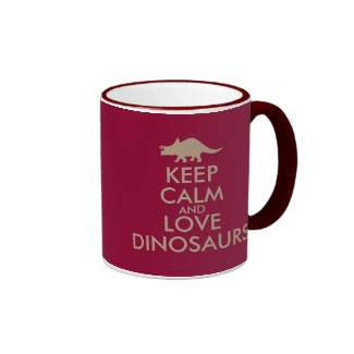 Dinosaur Lover Gift Keep Calm Triceratops Custom