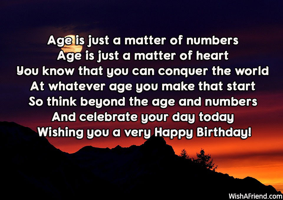 Age Is Just A Matter Of Inspirational Birthday Quote