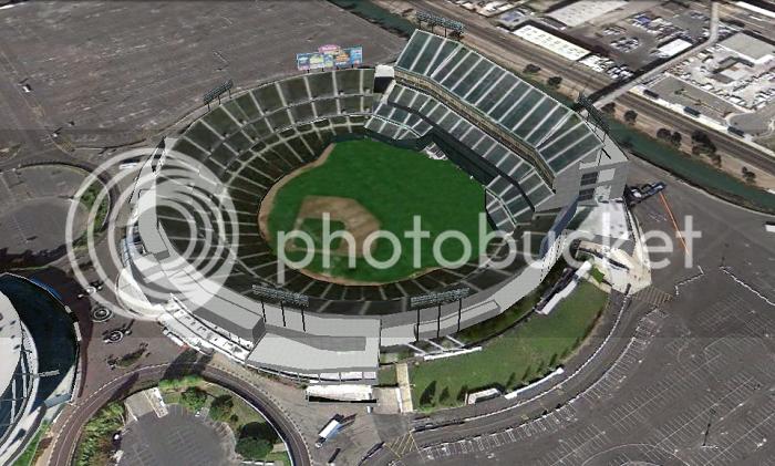 The Coliseum (Oakland, CA); 3D model by Google 3D Warehouse