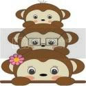 Mami's 3 little monkeys