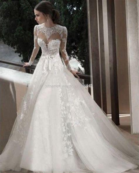 Long Sleeve Turtleneck Lace Wedding Dress   Wedding