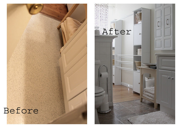 before after floor