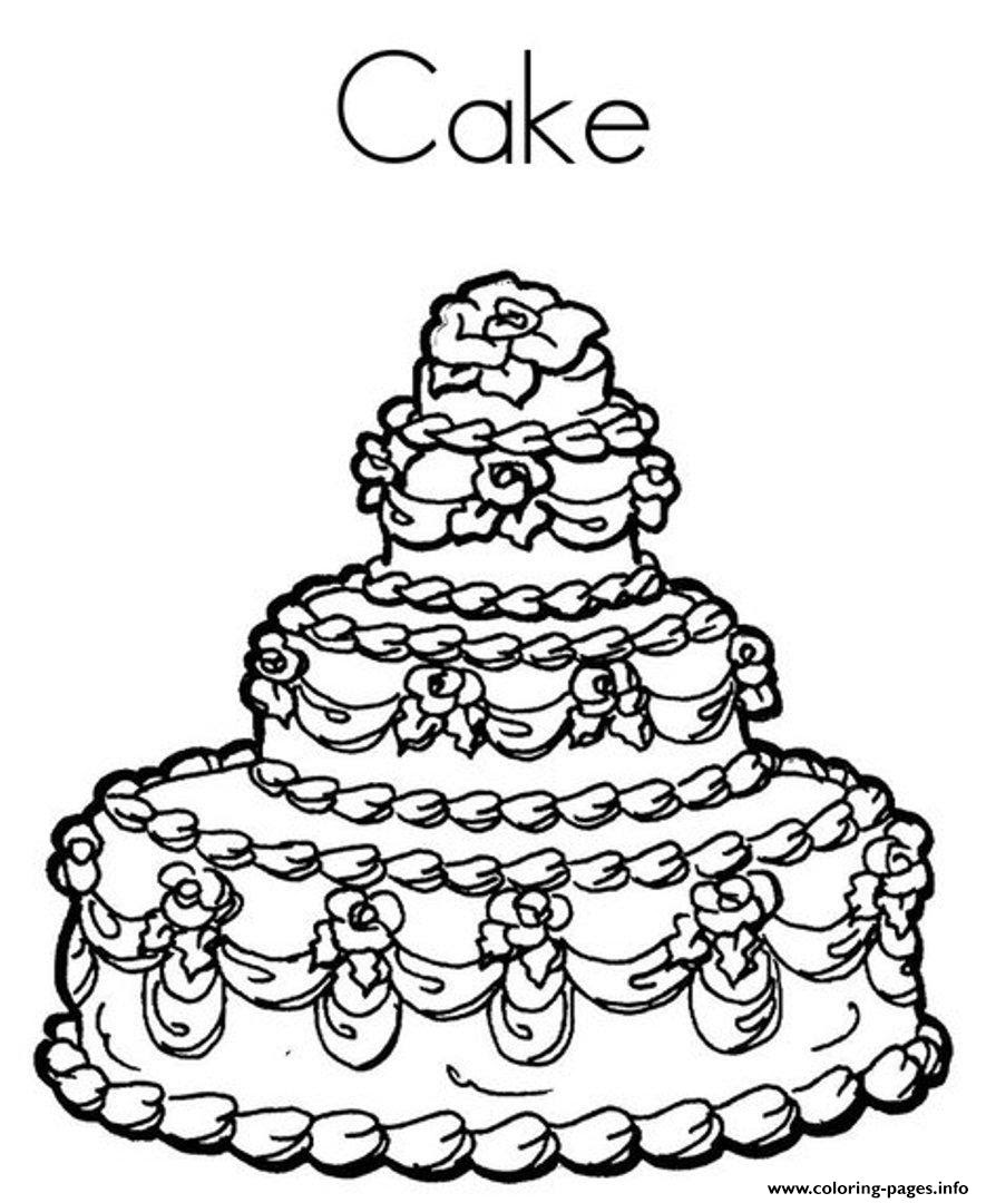 Delicious Birthday Cake 9fcd Coloring Pages Printable