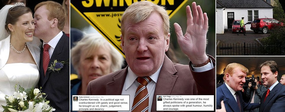 Charles Kennedy, former Liberal Democrat leader, dies at his home aged 55