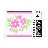 Pink flowers - Postage stamp