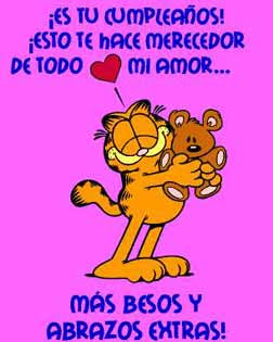 Abrazos cumpleaños Garfield