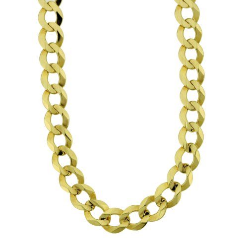 Men's 14k Yellow or White Gold Cuban Chain Necklace