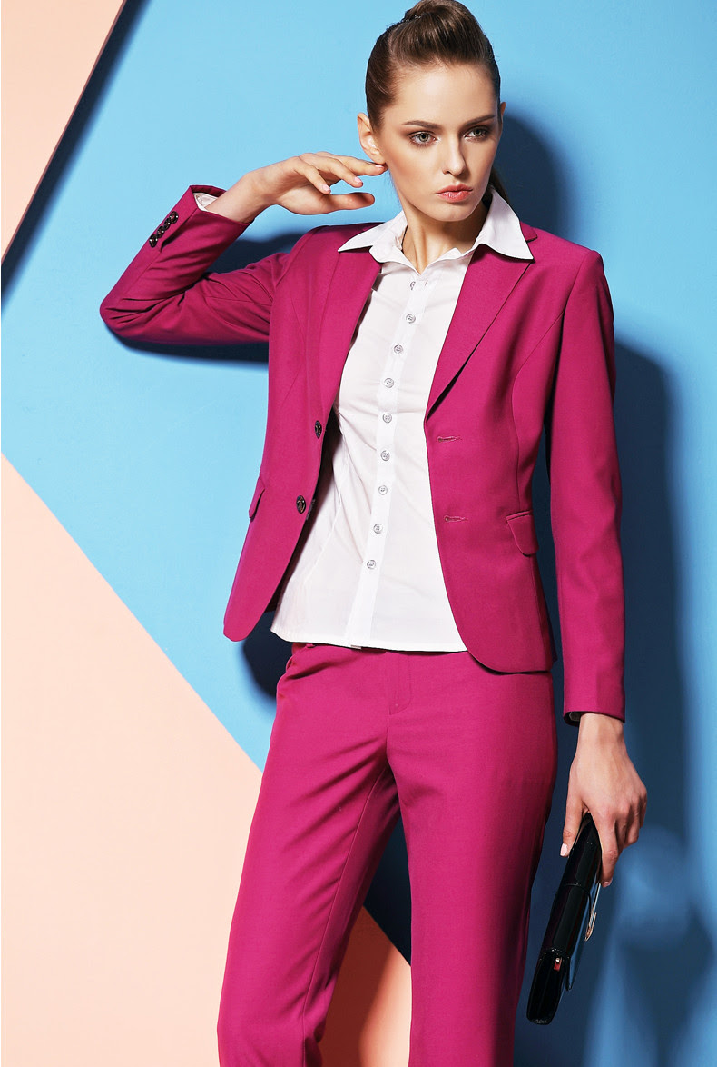 popular pink pant suits for womenbuy cheap pink pant