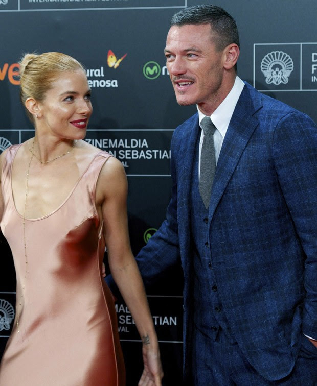 Sienna Miller e Luke Evans (Foto: Getty Images)