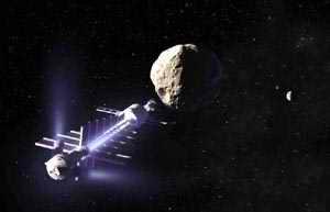 Satelite y asteroide