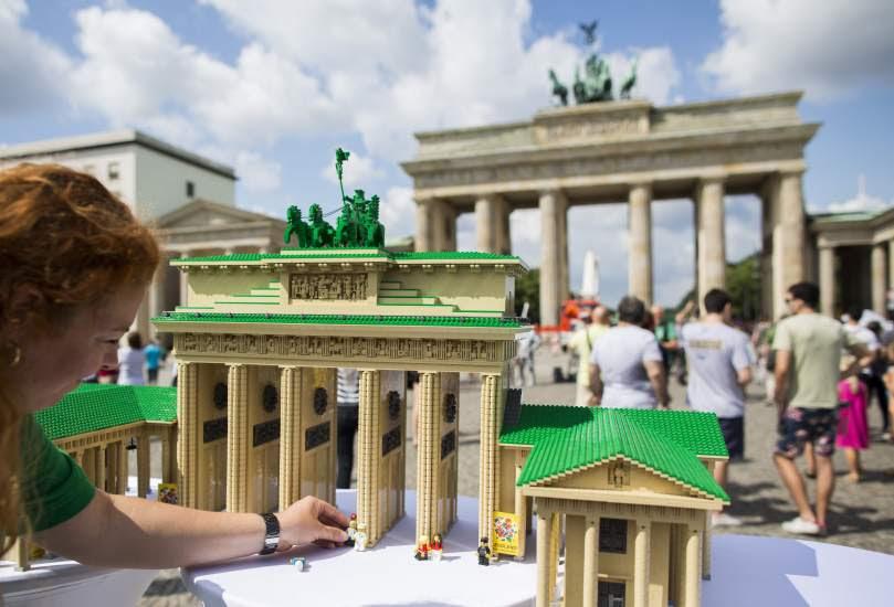 La puerta de Brandenburgo, en versión Lego