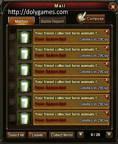Fresh Milk in Game Mail