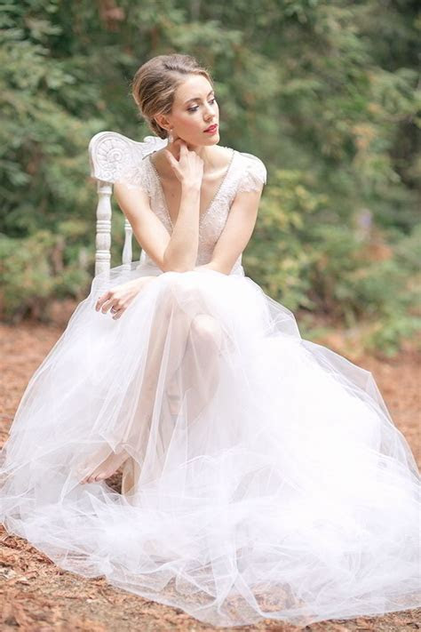 A Romantic And Elegant Bridal Session In The Woods   World