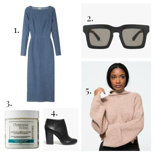 Rachel Comey Dress - Valley Eyewear Sunglasses - Christophe Robin Shampoo - Madewell Boots - Stelen Turtleneck