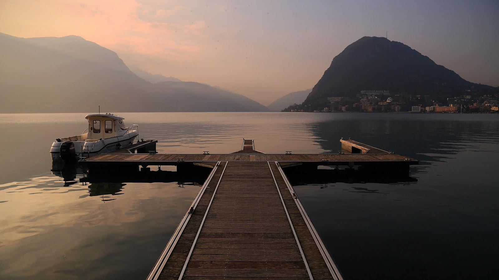 Peaceful sunrise |Switzerland (1600 x 900)