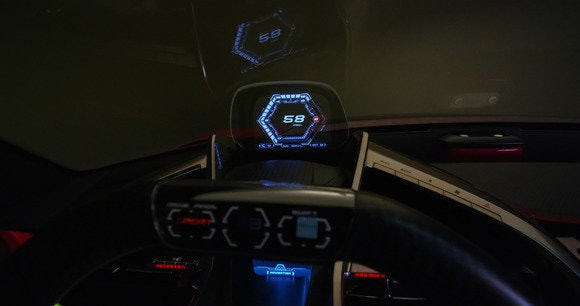 NAIAS toyota conceito ft1 HUD Detroit Auto Show jan 2014